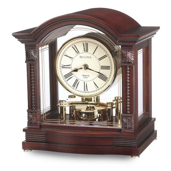 Mantle clocks are quartz powered, never need winding.